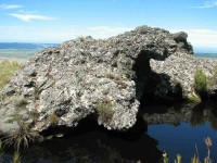 Overhang rock
