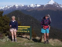 Borland Saddle. Mt Burns Tops. Pat, Brenda