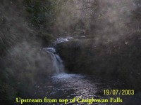 Upstream from top of Craiglowan Falls.