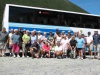 Twenty-nine of us at St James Walkway at Arthurs Pass summit