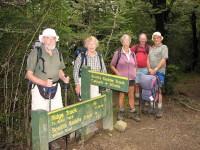 Junction of Scotts Saddle and Ridge Tracks. Ian, Pat, Wendy, Doug M, Les S