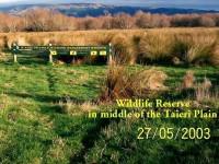 Taieri Reserve Sign