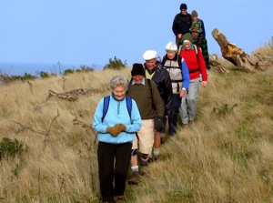 Going down on way up. Margaret, Neil, Bob, Lesley, Joyce, Doug, Arthur, George.