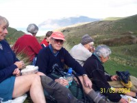 Tea Break. Pat, Molly, Bill, Joyce, Nancy