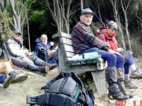 Seat, Top of John Bull Track. Leonie, Ian, George,  Marjorie