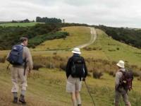 Hill ahead. Lex, Bill, Keith