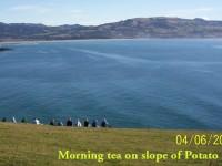 Morning tea on slope