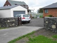 Fine stone wall entrance