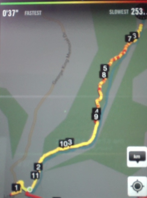 GPS of track to Lee Stream