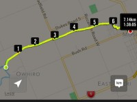 GPS from Taieri River back to car park. Therefore, total distance 14.28 km.