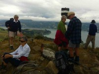Some of the 12 Hikers on top of Harbour Cone