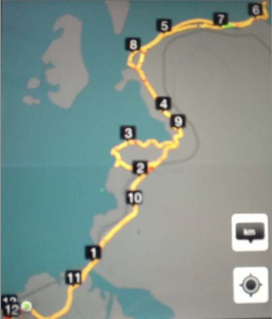 GPS of Route