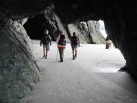 Returning through cave
