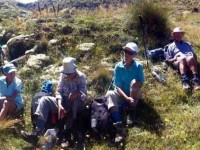 Hikers, Lunch, Diggings, Panorama