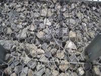 Bridge stone work and netting (John pic)