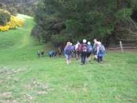 Down the steep slope. (John pic)