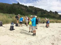 Following lunch on sand spit.