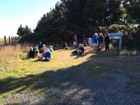 Hikers' cuppa at top of McKessar Track
