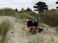 Lunch at end of spit. Happily before the mouse invasion.