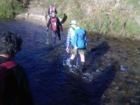 Very cold river crossings and cold wet feet. (Helen pic and caption.)