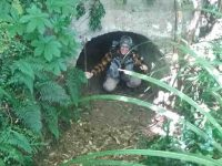 C.3) Bruce checks out the tunnel on tunnel trackc