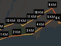 Nike app GPS of route.